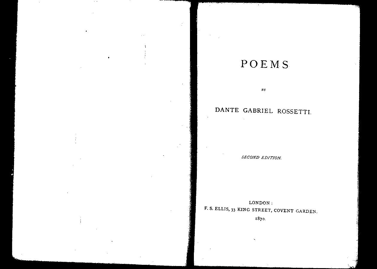 Poems (1870): Second Edition (DGR's corrected copy)