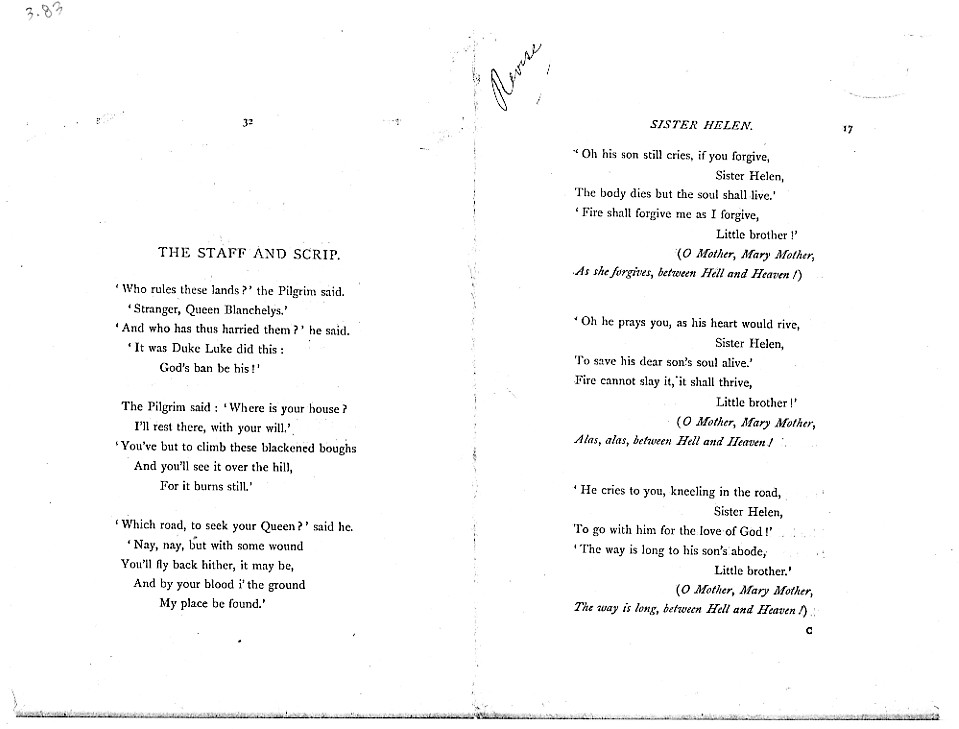 Poems  A New Edition (1881), proof Signature C (Delaware