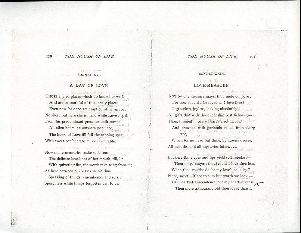 Ballads and Sonnets (1881), proof Signature N (Delaware Museum