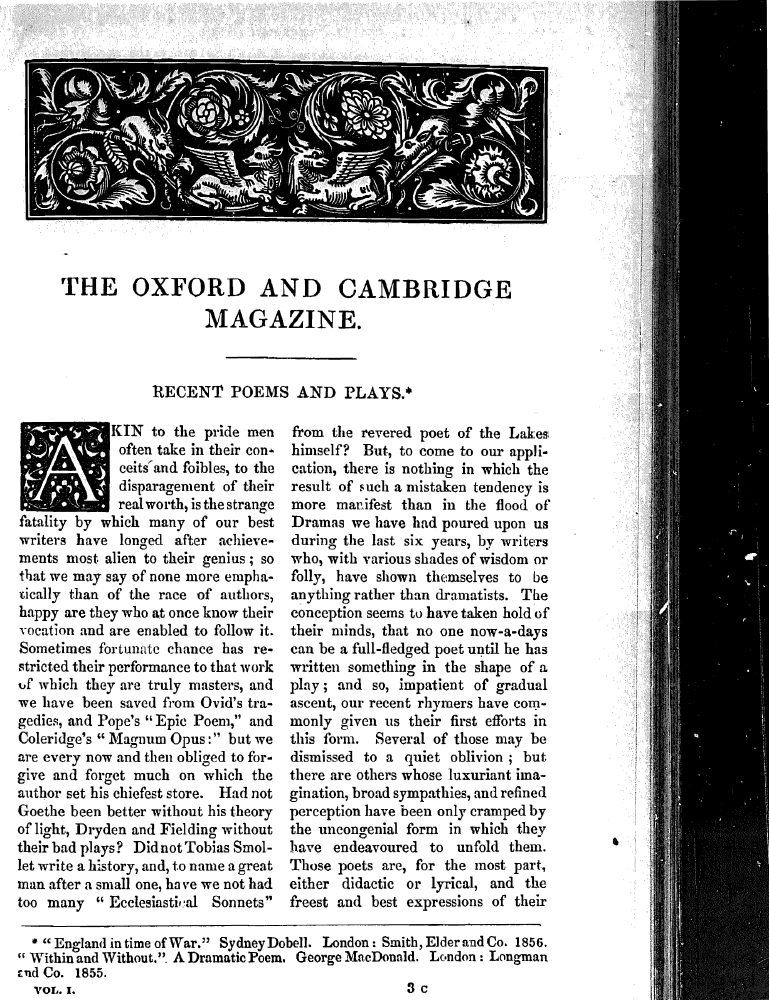 The Oxford And Cambridge Magazine December Issue