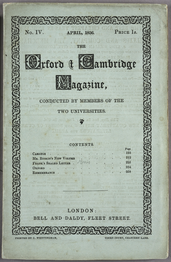 The Oxford and Cambridge Magazine (April issue)