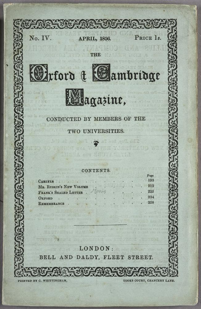 The Oxford and Cambridge Magazine (April issue)