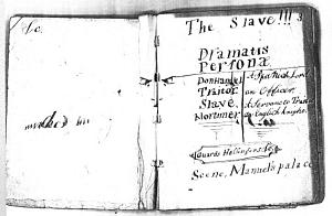 Facsimile images available for The Slave (holograph manuscript)