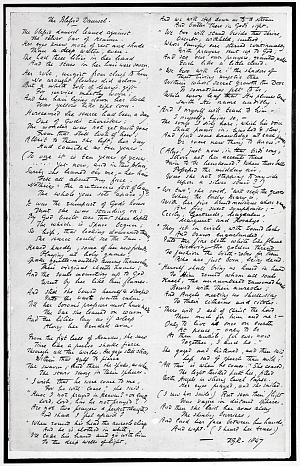 Facsimile images available for The Blessed Damozel (fair copy manuscript)
