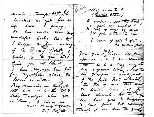 Facsimile images available for Letter to William Bell Scott, February 1857, manuscript