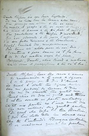 Facsimile images available for The Early Italian Poets, prose notes