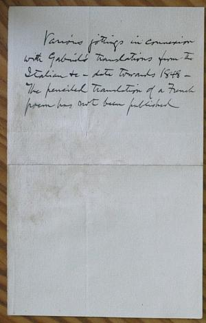 Facsimile images available for A Note on Rossetti's Foreign Transcriptions