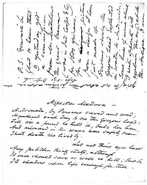 Facsimile images available for Letter to Frances M. L. Rossetti, 20 July 1867