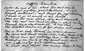 Facsimile images available for Soul's Beauty (Sibylla Palmifera) (fair copy manuscript, Delaware Art Museum)