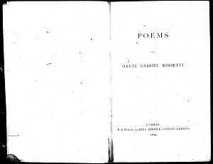 Facsimile images available for Poems (1870): Proofs for first edition, Princeton/Troxell Copy