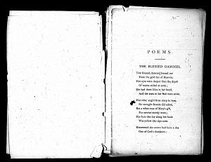 Facsimile images available for Poems (1870): Mixed Proofs 1869-1870, 1881, Princeton/Troxell Copy