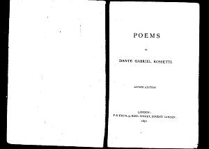 Facsimile images available for Poems (1870): Second Edition
