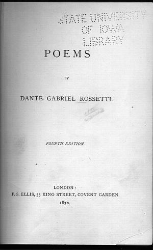 Facsimile images available for Poems (1870): Fourth Edition