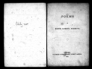 Facsimile images available for Poems (1870): Proofs for first edition, British Library copy, (Ashley 1405)