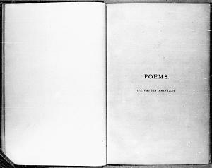 Facsimile images available for Poems. (Privately Printed).: the A2 Proofs, Fitzwilliam Museum Copy