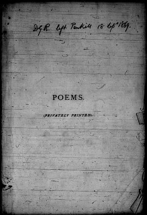 Facsimile images available for Poems. (Privately Printed).: Penkill Proofs, Princeton/Troxell (copy 1)