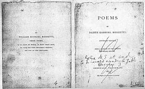Facsimile images available for Poems by Dante Gabriel Rossetti (1873): the Tauchnitz Edition, page proofs