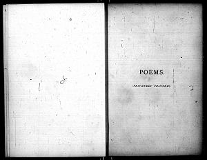Facsimile images available for Poems. (Privately Printed.): Second Trial Book, Princeton/Troxell.