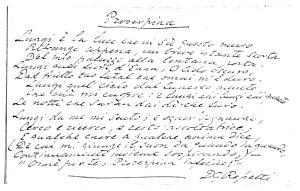 Facsimile images available for Proserpina (Per un Quadro) (fair copy, Boston Public Library Manuscript)
