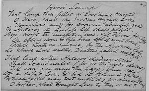 Facsimile images available for Hero's Lamp (Delaware fair copy Manuscript)
