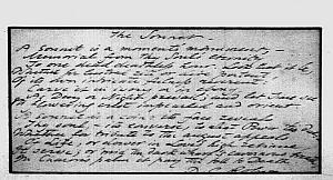 Facsimile images available for The Sonnet (Yale fair copy)