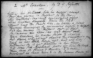 Facsimile images available for MacCracken (Parody on Tennyson's 'Kraken')