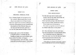 Facsimile images available for Ballads and Sonnets (1881), proof Signature R (Delaware Museum, first revise,