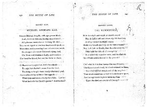 Facsimile images available for Ballads and Sonnets (1881), proof Signature R (Delaware Museum, second