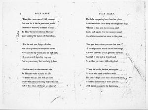 Facsimile images available for Ballads and Sonnets (1881), proof Signature B (Delaware Museum, author's                    first proofs)