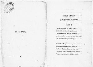 Facsimile images available for Ballads and Sonnets (1881), proof Signature B (Delaware Museum, third revise,