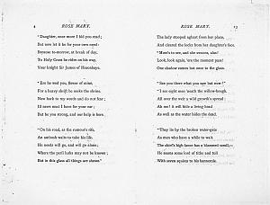 Facsimile images available for Ballads and Sonnets (1881), proof Signature B (Delaware Museum, final proof)