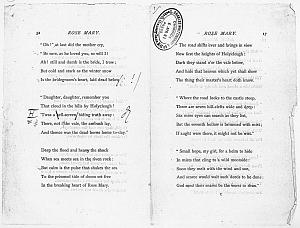 Facsimile images available for Ballads and Sonnets (1881), proof Signature C (Delaware Museum first author's proof, copy 2)