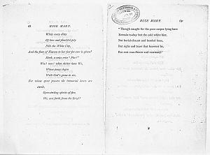 Facsimile images available for Ballads and Sonnets (1881), proof Signature F (Delaware Museum first author's