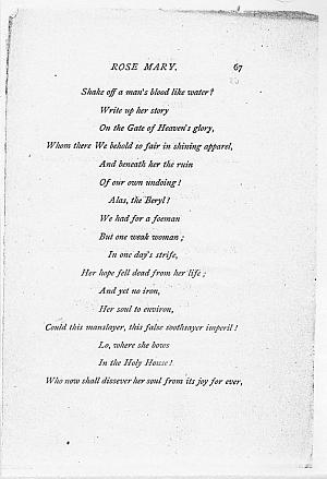 Facsimile images available for Ballads and Sonnets (1881), proof Signature F (Delaware Museum first revise                    proof, incomplete)