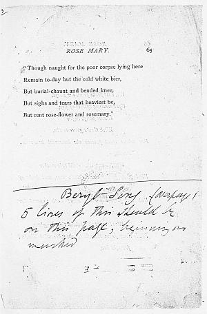 Facsimile images available for Ballads and Sonnets (1881), proof Signature F (Delaware Museum, second revise