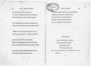 Facsimile images available for Ballads and Sonnets (1881), proof Signature F (Delaware Museum, final revise