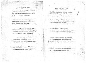 Facsimile images available for Ballads and Sonnets (1881), proof Signature G (Delaware Museum, early proof                    revise fragment)