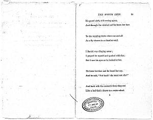 Facsimile images available for Ballads and Sonnets (1881), proof Signature G (Delaware Museum, complete