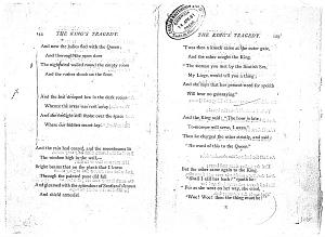 Facsimile images available for Ballads and Sonnets (1881), proof Signature K (Delaware Museum, first