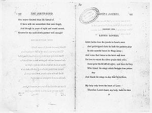 Facsimile images available for Ballads and Sonnets (1881), proof Signature N (Delaware Museum, first proof, copy 1)