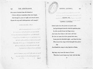 Facsimile images available for Ballads and Sonnets (1881), proof Signature N (Delaware Museum, first proof,