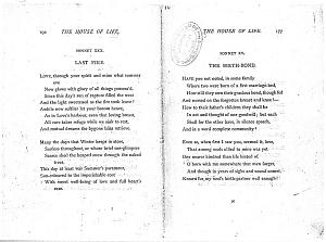 Facsimile images available for Ballads and Sonnets (1881), proof Signature N (Delaware Museum, first revise, copy 2)