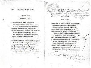 Facsimile images available for Ballads and Sonnets (1881), proof Signature O (Delaware Museum, first