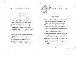 Facsimile images available for Ballads and Sonnets (1881), proof Signature O (Delaware Museum, complete                    first revise, uncorrected copy)