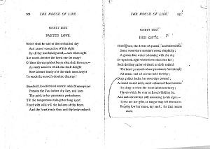 Facsimile images available for Ballads and Sonnets (1881), proof Signature O (Delaware Museum, complete third revise,     partial uncorrected copy 2)