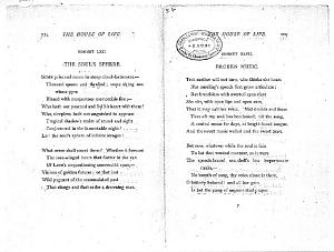 Facsimile images available for Ballads and Sonnets (1881), proof Signature P (Delaware Museum, 6 May proof,