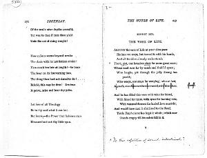Facsimile images available for Ballads and Sonnets (1881), proof Signature S (Delaware Museum, second