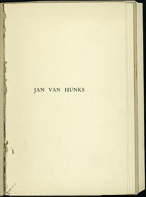 Facsimile images available for Jan Van Hunks (1912)