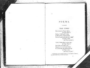 Facsimile images available for Poems. (Privately Printed.): First Trial Book (Fitzwilliam Museum, early proof)