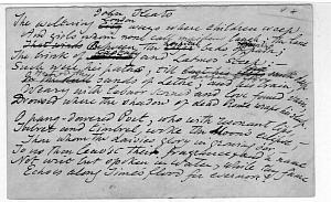 Facsimile images available for John Keats (Delaware first draft)